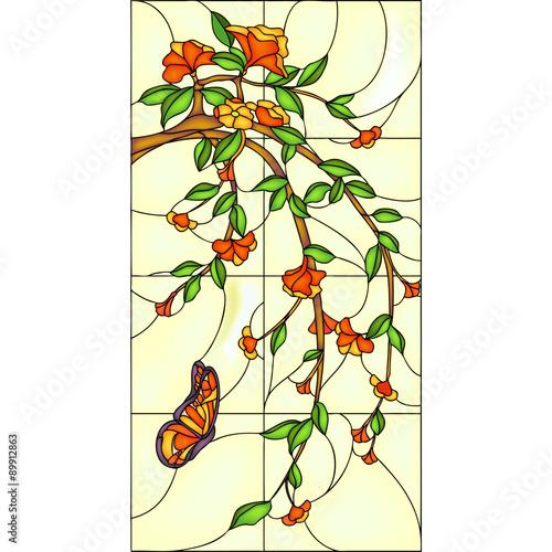 kwiatowy-witraz-z-motylem