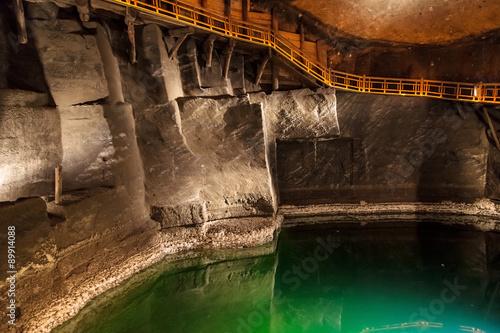 Underground lake in Wieliczka