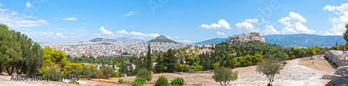 Papiers peints Athenes Panoramic view of Acropolis and Lycabettus in Athens, Greece