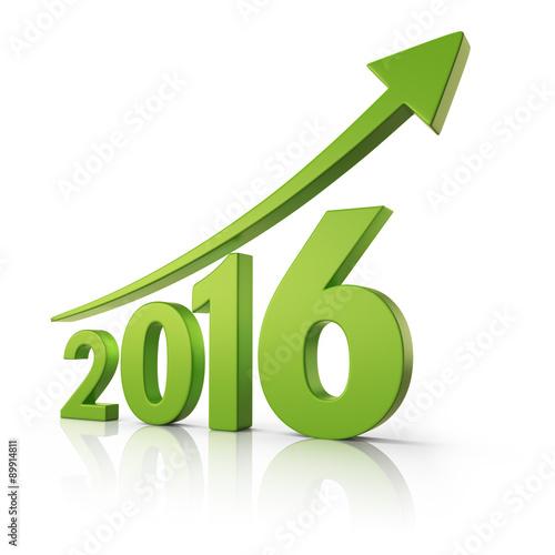 Fotografia  2016 Growth forecast concept