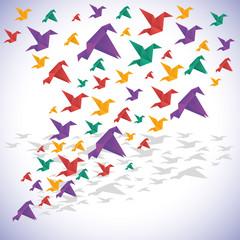 Panel Szklany Japoński Origami design.