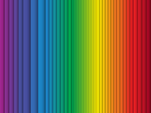 Color Rainbow Stripes Background Curtain