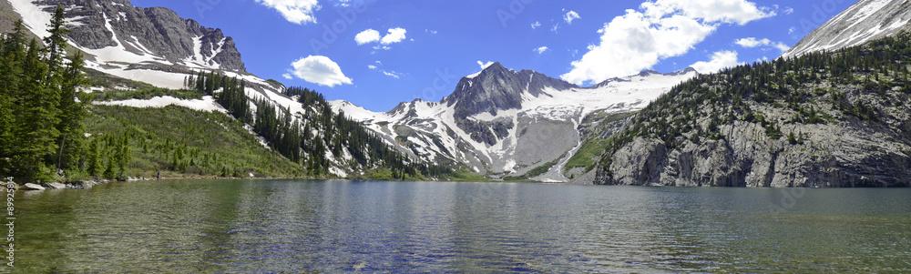 Fototapeta Panorama of Colorado 14er, Snowmass Mountain, Elk Range, Rocky Mountains