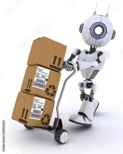 Photo Robot with Shipping Boxes