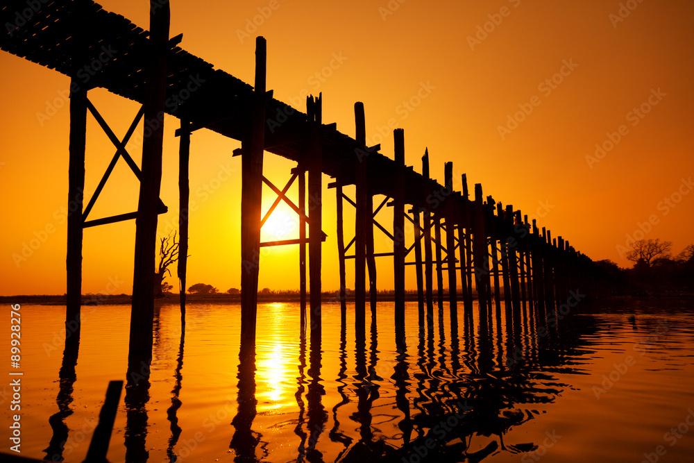 Fototapety, obrazy: U Bein Bridge, Mandalay, Myanmar