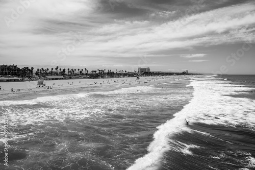 Huntington Beach California Black and White