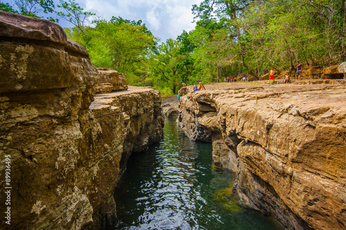 Photographie  Los Cangilones de Gualaca is one of the best natural swimming bath in the provin