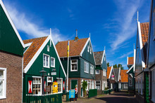 Dutch Houses In Marken, Netherlands