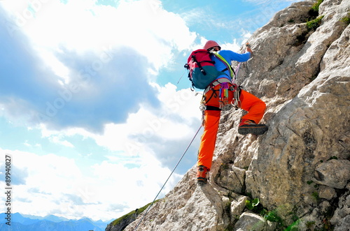 Photo Stands Mountaineering Klettern am Fels