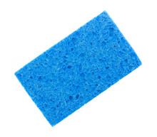 Blue Sponge On A White Backgro...