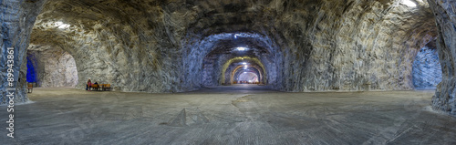 Panorama inside Salt mine Targu Ocna Fototapeta