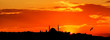 canvas print picture - Istanbul silhouette on sunset. Turkey