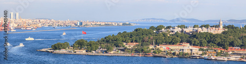 Poster Turquie Istanbul Panoramic View from Galata tower to Golden Horn, Turkey