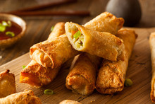 Homemade Fried Pork EggRolls