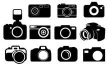 Camera Silhouette, Set Vector ...