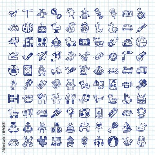 Fotografie, Obraz  doodle toy icons