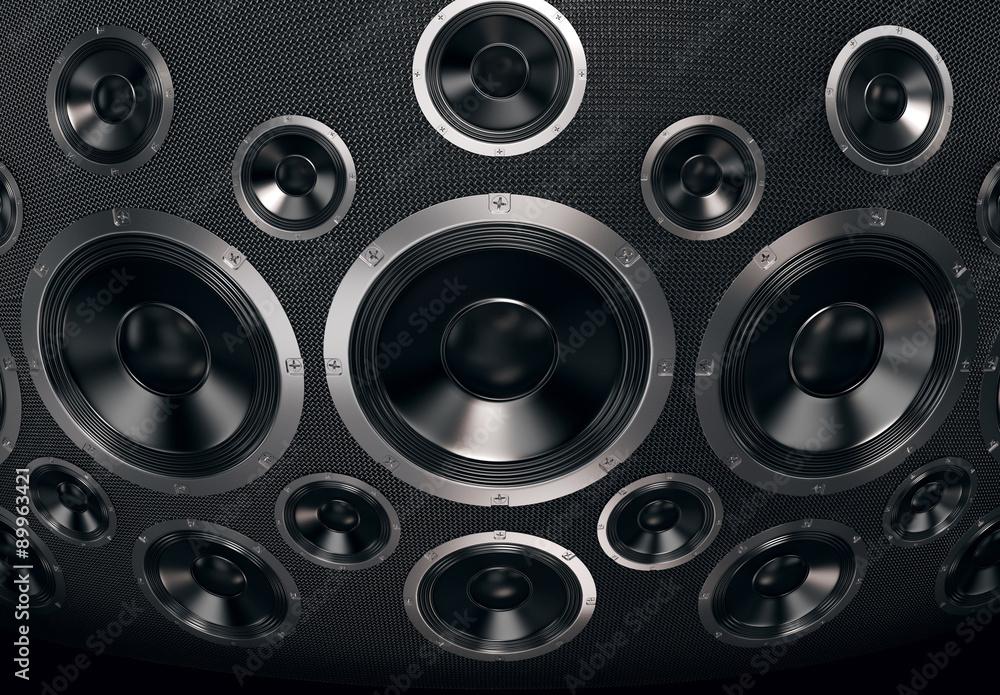 Speakers Abstract Background. 3D Render Poster, Plakat   3+1 GRATIS ...