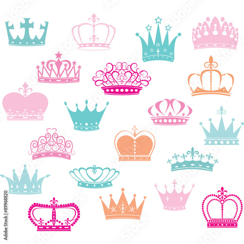Fotografie, Tablou  Crown Silhouette,Princess Crown