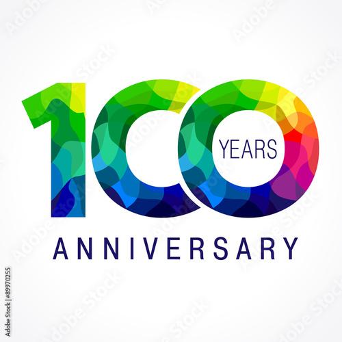 Pinturas sobre lienzo  100 anniversary color logo