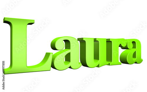 Photo  3D Laura text on white background