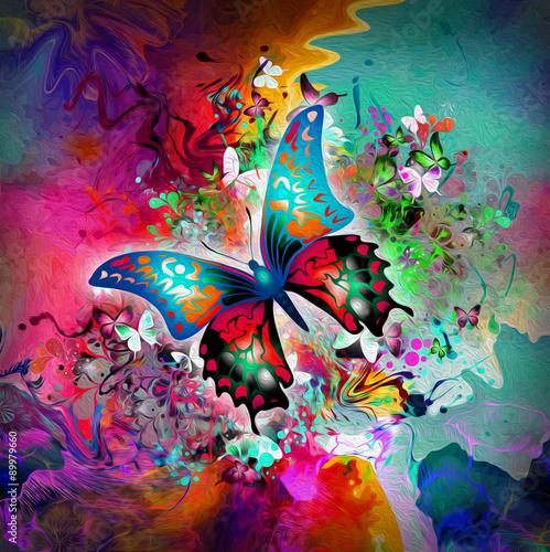 Fotografia  Красочный фон с бабочками
