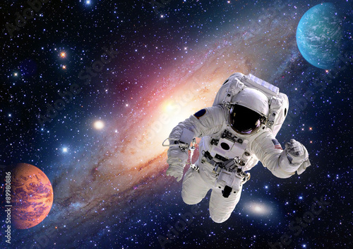 Photo  Astronaut spaceman outer space solar system people planet universe