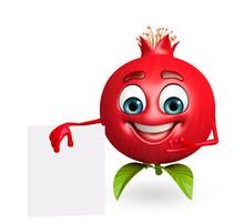 Cartoon Character Of Pomegrana...