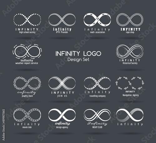 Fotografie, Obraz  Set of vector infinity logo design