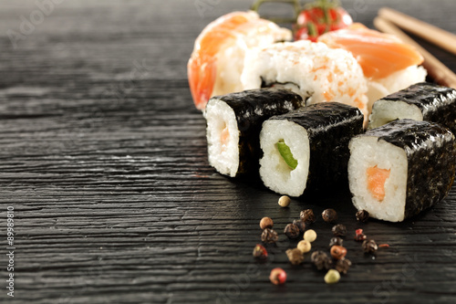 Foto op Canvas Sushi bar sushi