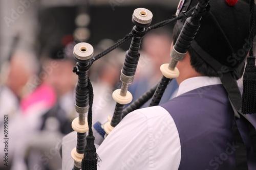 Fotografía Festival delle band di cornamuse in Glasgow, esibizione di una banda: particolare