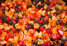 Christmas Mix Dried Fruits. Dried Fruits Soaked In Rum For Cooking The Christmas Cake