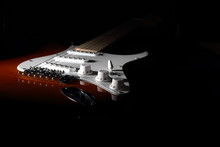 Electric Guitar On Dark Backgr...