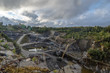 Granite quarry in the summer Ural Ekaterinburg