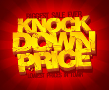 Knock Down Price Sale Banner.