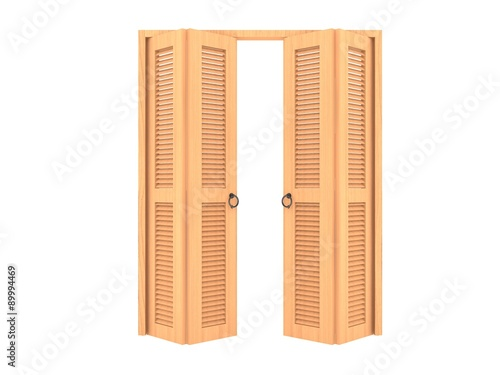 wood folding door with grill ,3d - Buy this stock illustration and ...