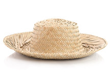 Close Up Of Vintage Summer Straw Hat