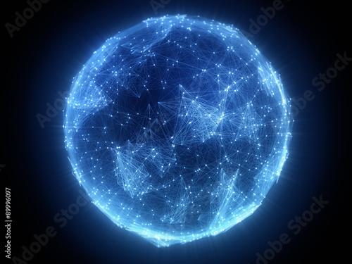 Valokuvatapetti Erde Kommunikation Globalisierung