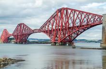 Forth Bridge In Edinburgh Scotland
