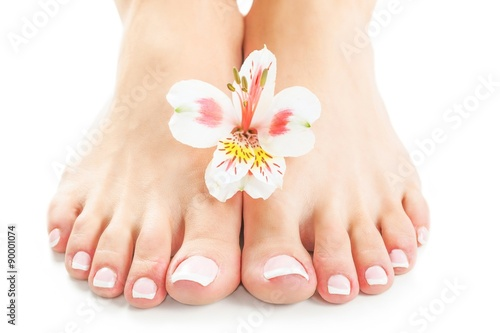 Foto op Canvas Pedicure Nails.
