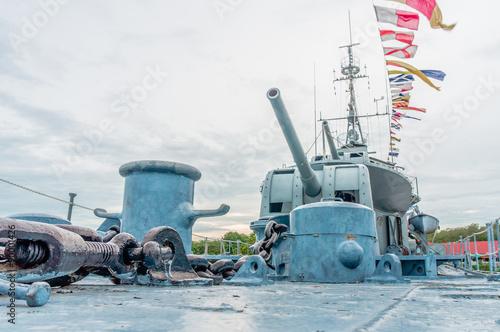 Photo  museum navy warship on maindeck