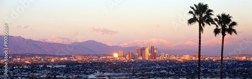 Downtown Los Angeles, Sunset, California Tablou Canvas