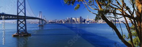 Bay Bridge & San Francisco from Treasure Island, Sunrise, California Poster