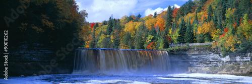 Wall Murals Waterfalls Tahquamenon Fall State Park. Inspired Longfellow's Song of Hiawatha. Michigan