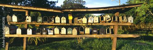 Fotografie, Obraz  Rows of mailboxes along road to Hana, Maui, Hawaii
