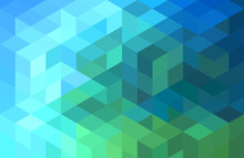 Abstract Blue Green Geometric ...