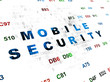 Security concept: Mobile Security on Digital background