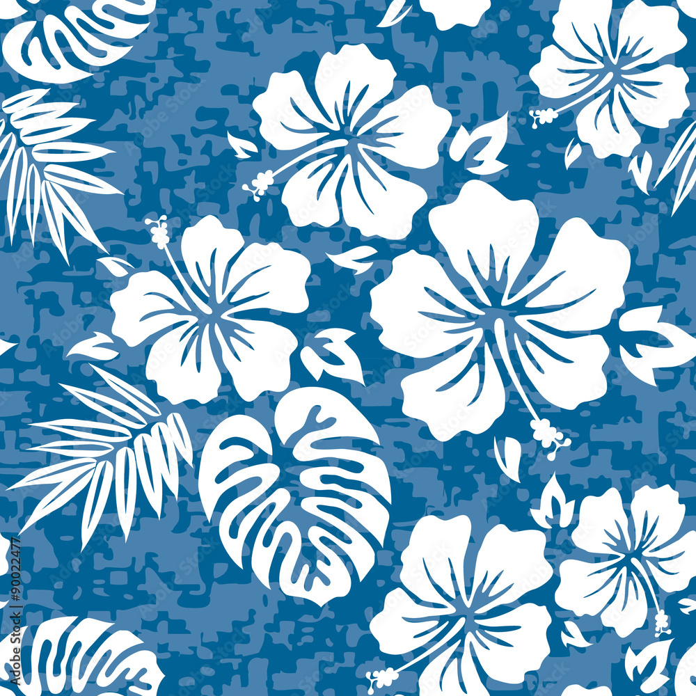 Fototapeta Aloha Hawaiian Shirt Seamless Background Pattern