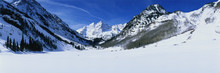 This Is Pyramid Peak In The Maroon Bells After A Winter Snow Storm. The Altitude Is 14,010 Feet.