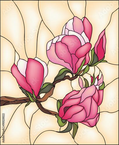 magnolia-witraz-wektor
