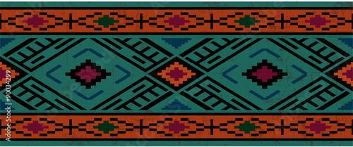 Fotografia Seamless pattern in native american style, boho ornament
